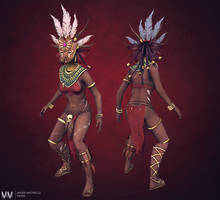 Diablo III Witch doctor posed by Azraele