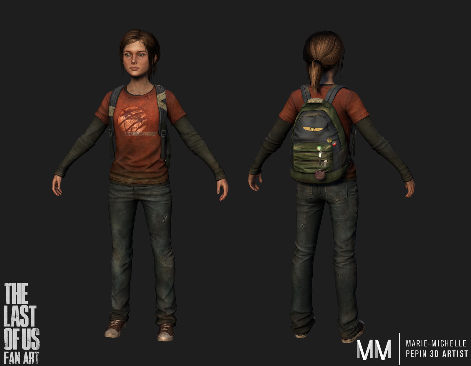 Ellie from The last of us fanart, video game rez by Azraele