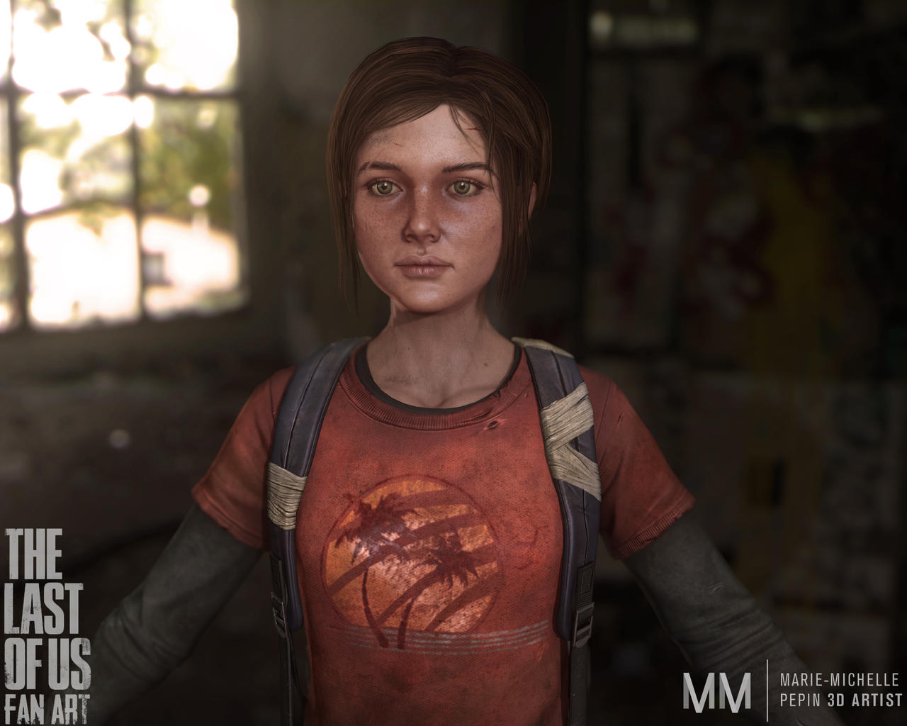 Ellie from The last of us, New closeup by Azraele