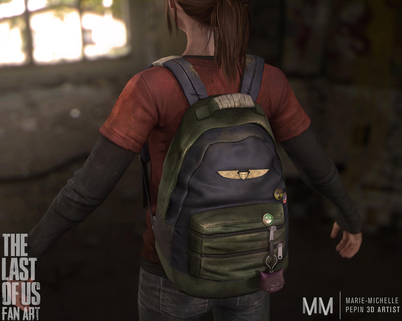 Ellie from The last of us Fan art, New closeup by Azraele