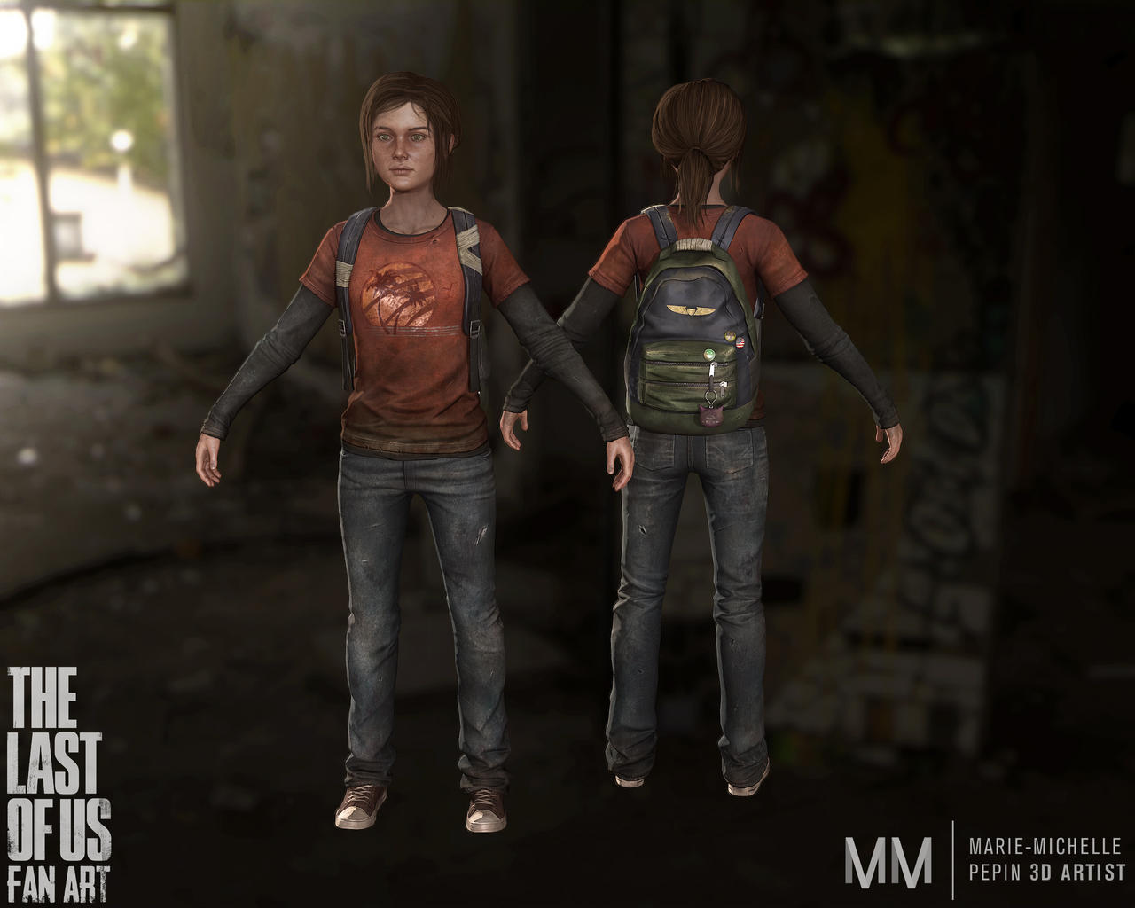 Ellie from The last of us fanart, New full shot by Azraele