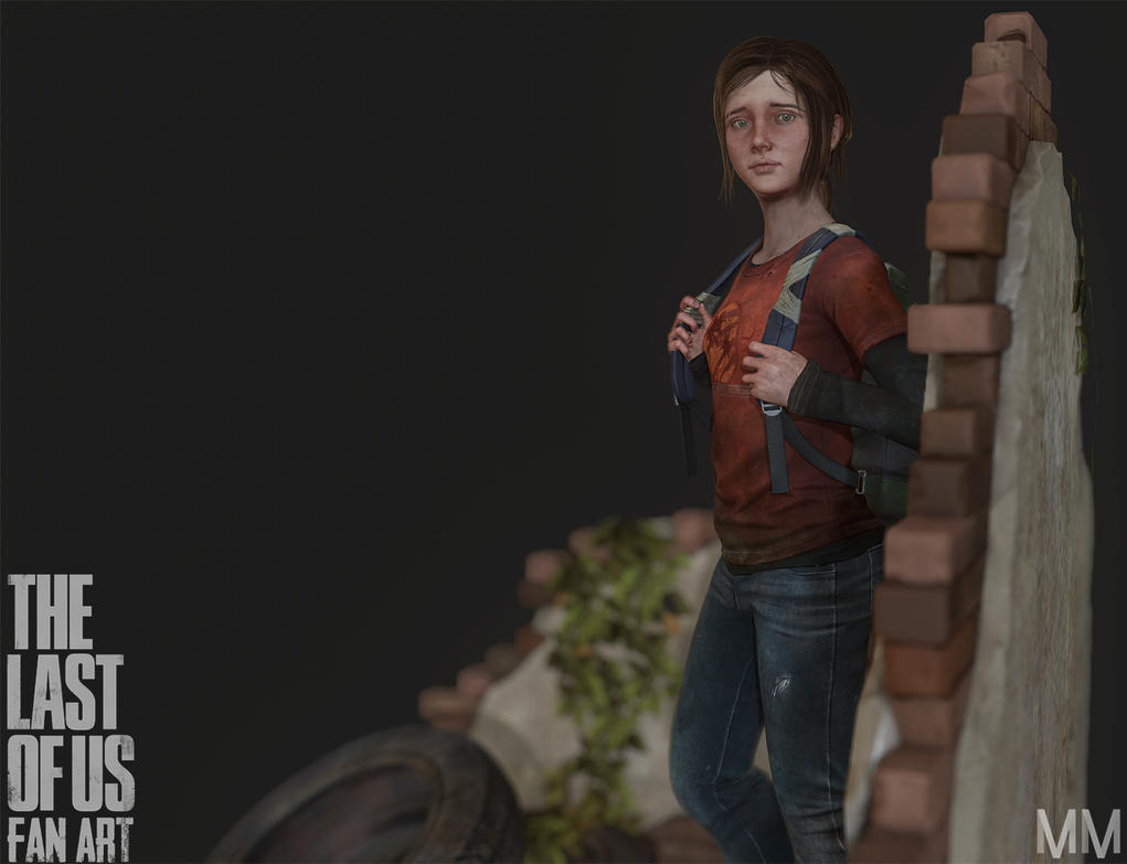 Ellie from The last of us Fan art, Pose03 by Azraele