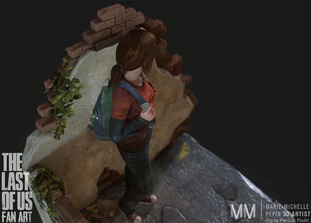 Ellie from The last of us Fan art, Pose04 by Azraele
