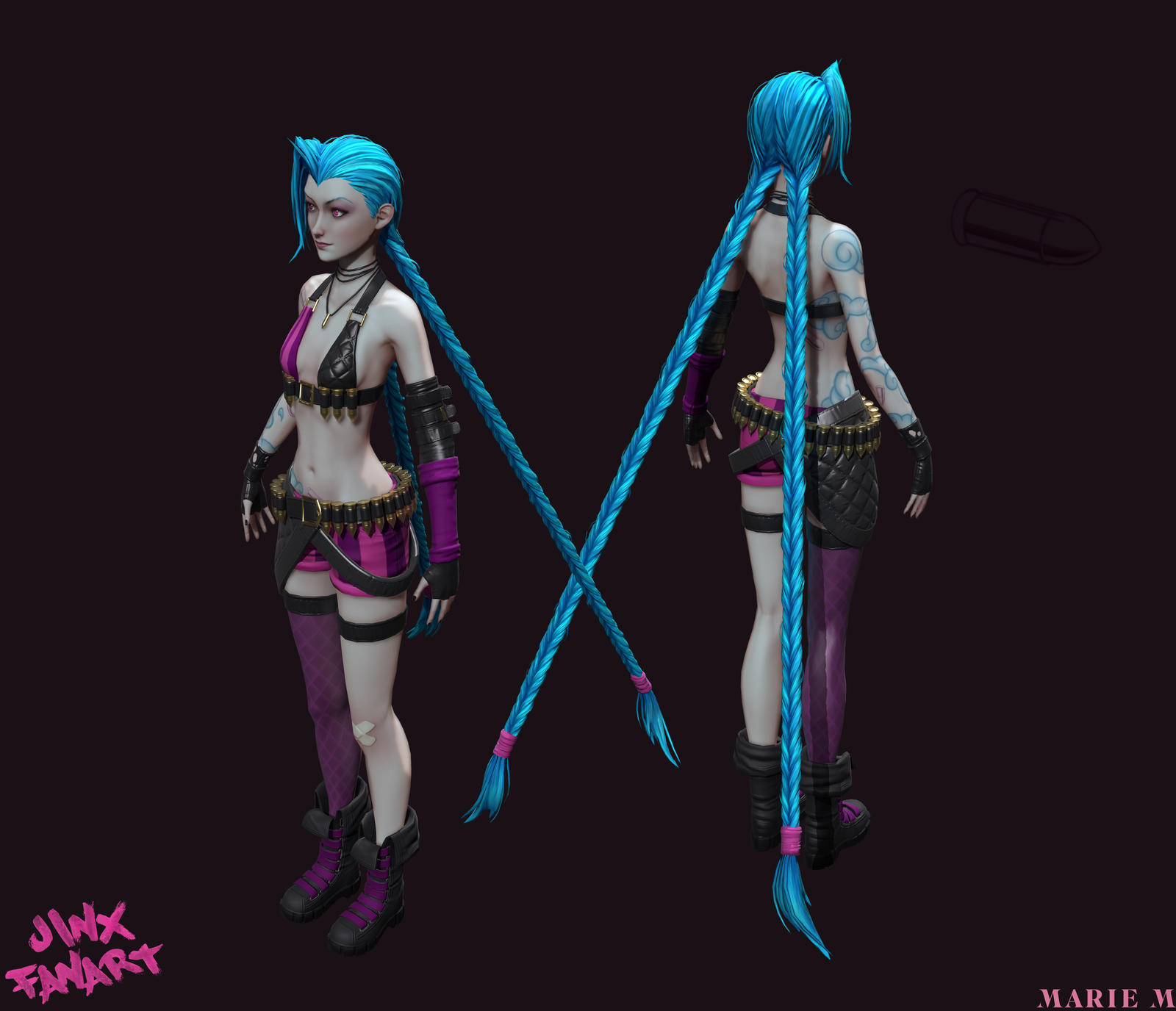 jinx the loose cannon perspective by azraele on deviantart