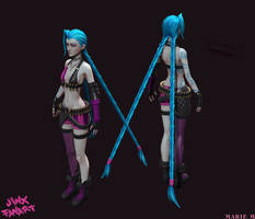 Jinx the loose cannon perspective by Azraele