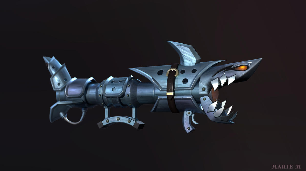 Fishbones, Jinx rocket launcher, League of legends by Azraele