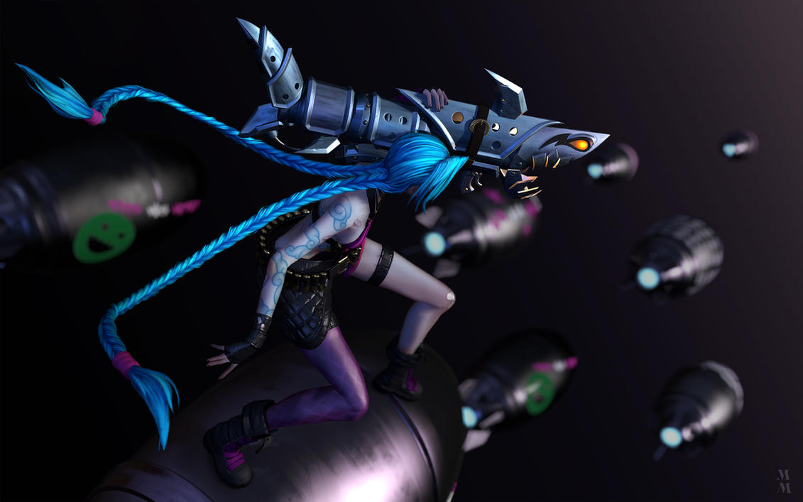 Jinx The loose cannon, beautyshot 01 by Azraele