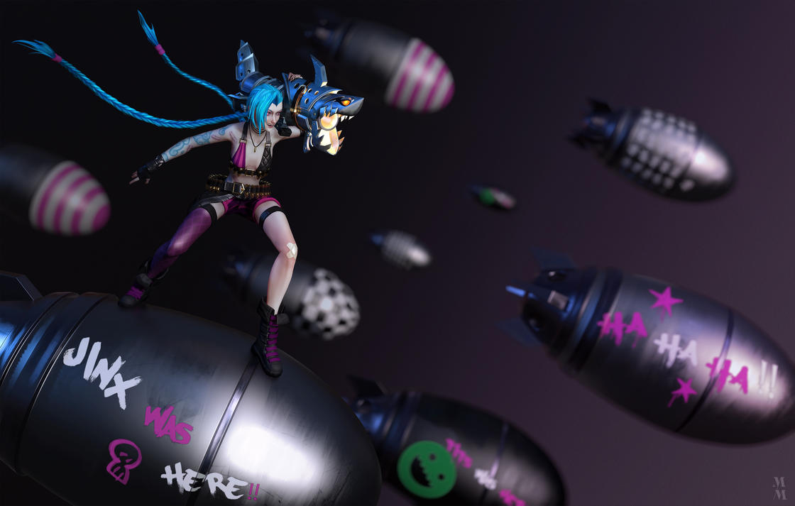 Jinx The loose cannon, beautyshot 03 by Azraele