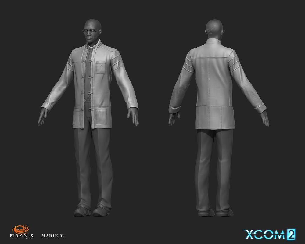 XCOM 2 Dr Richard Tygan Sculpt by Azraele
