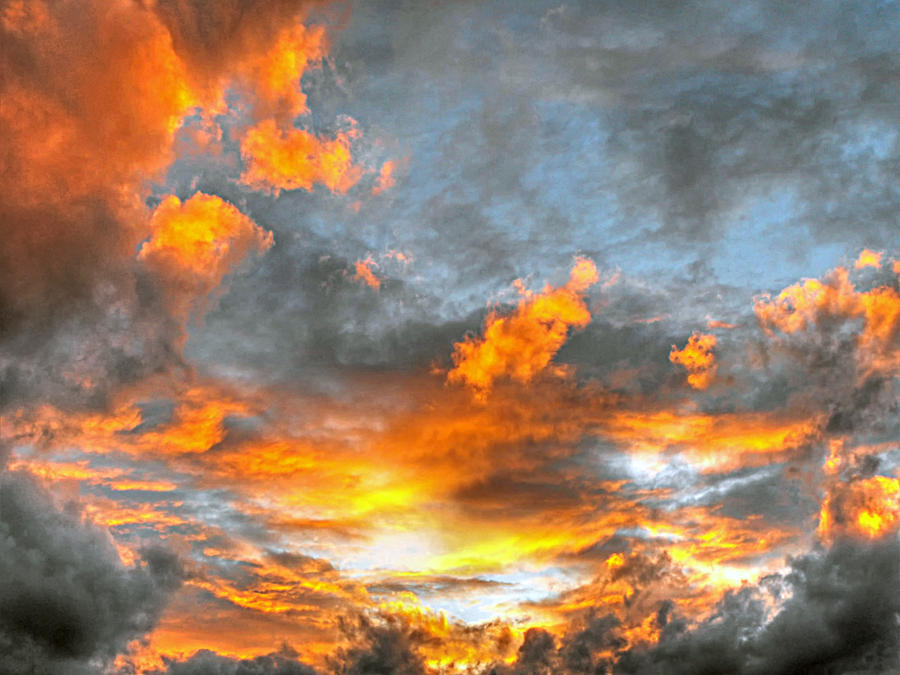 Clouds and sunset by Roji-Hachi