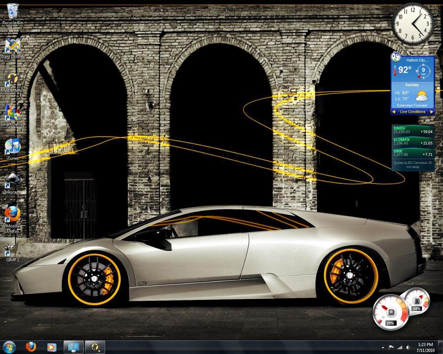 My first windows 7 desktop by bmgreatness on deviantart for 1st window