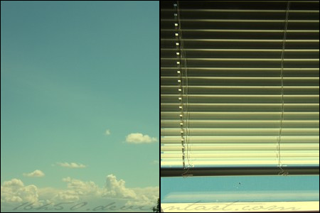 blue sky and grey shutter by 16h50