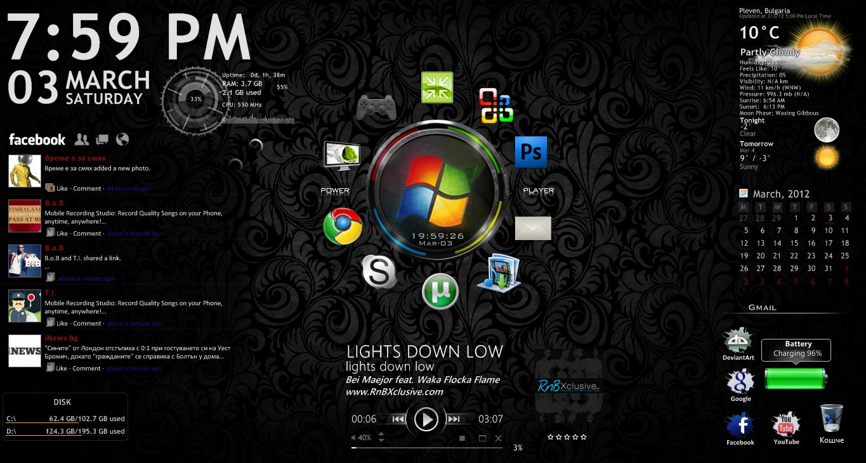 My Second Rainmeter  Desktop ! by eight-wonder