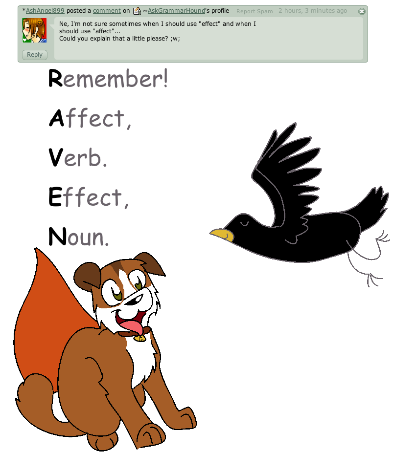 Worksheet Affect And Effect question 3 affect vs effect by askgrammarhound on deviantart askgrammarhound