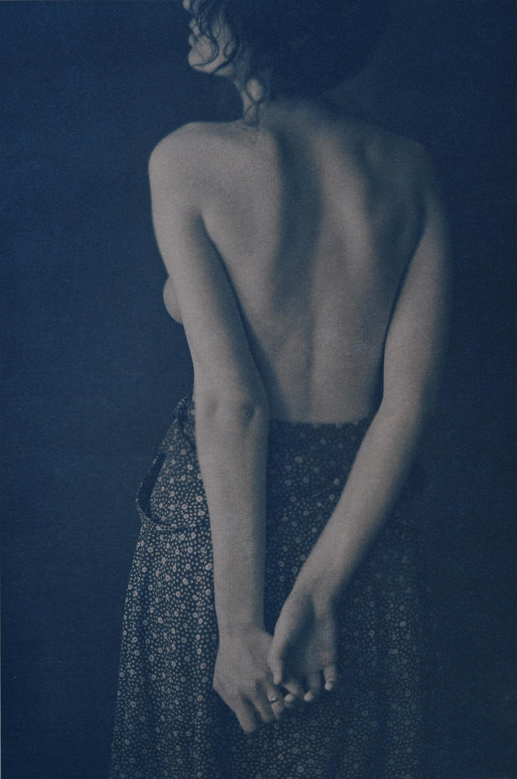 Girl dressed in blue by ANTONINA-art