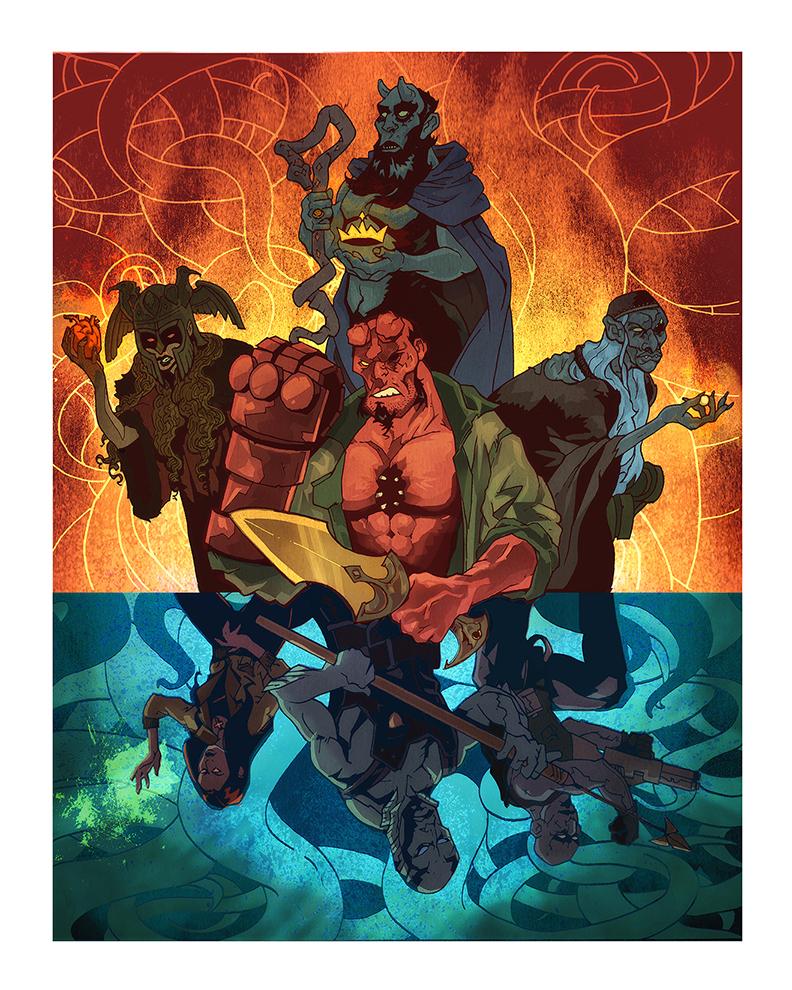 Hellboy Trinity by wjh3