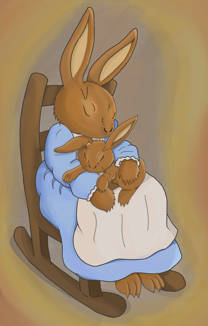 Mother Bunny and child by Candyfloss-Unicorn