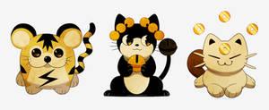 Pokemon Cat Trio