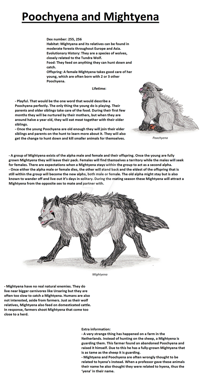 Realistic Pokedex. Entries 261, 262 by wietse110