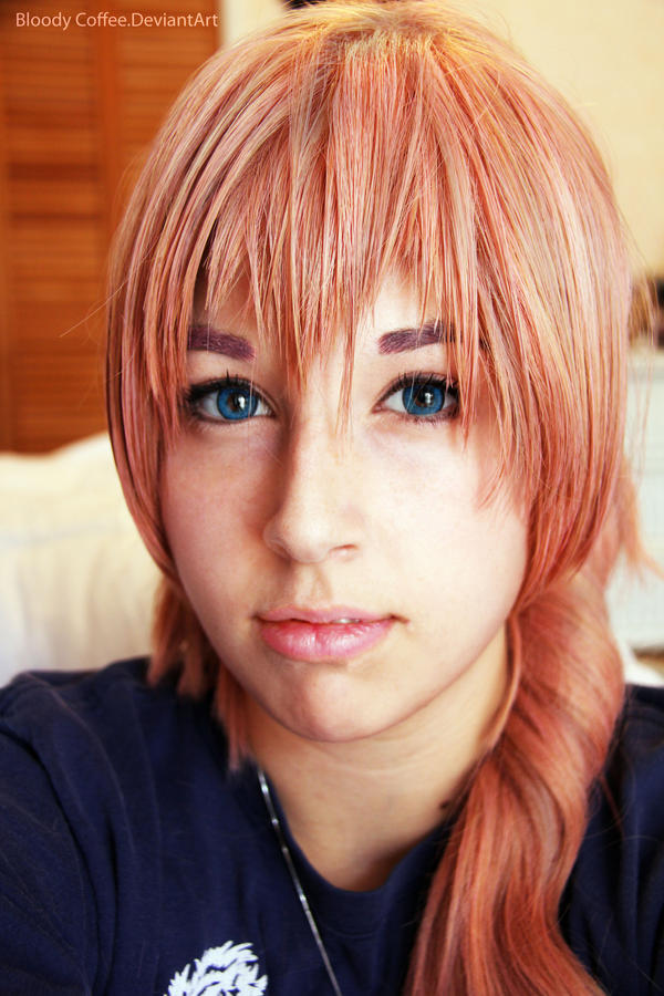 Serah Farron xiii-2 wig test-II by BloodyCoffee