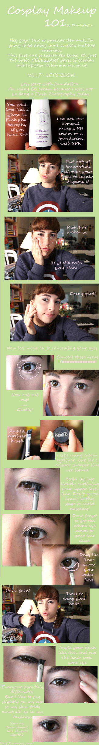 Cosplay makeup 101:part 1 by BloodyCoffee