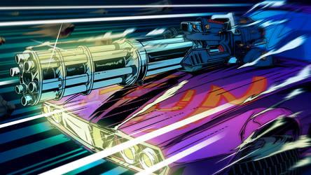 Hyperdrive Massacre promo Wallpaper- blue