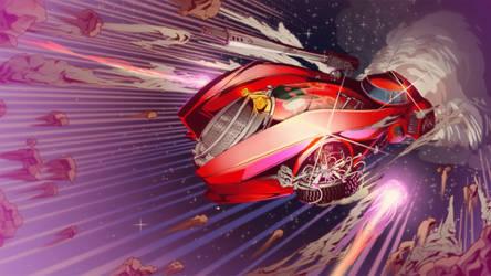 Hyperdrive Massacre promo Wallpaper- red