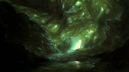 the green fairy forest by Fenrir--the-2nd