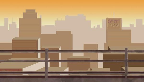 background: Sunset Skyline by SkyeBD