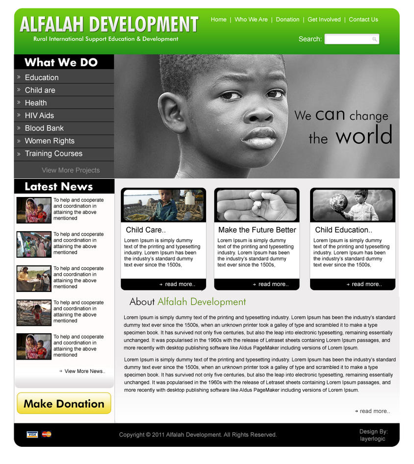 NGO Website design3 by pakiboy on DeviantArt