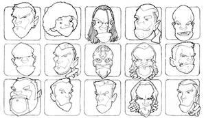 WWE Heads