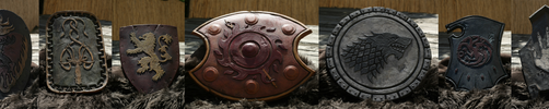 GoT and LotR inspired shields by Evelius