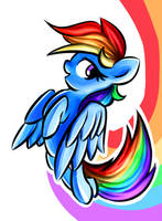 Rainbow Dash by Shovrike