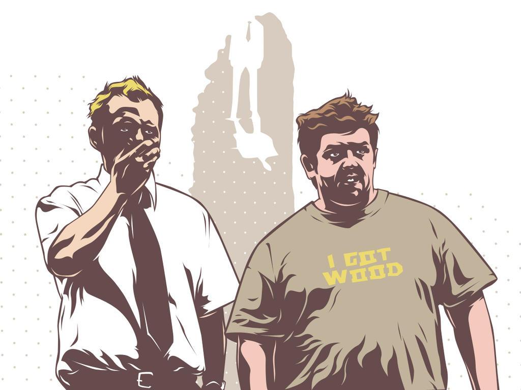 Shaun and Ed by mixmasterangel