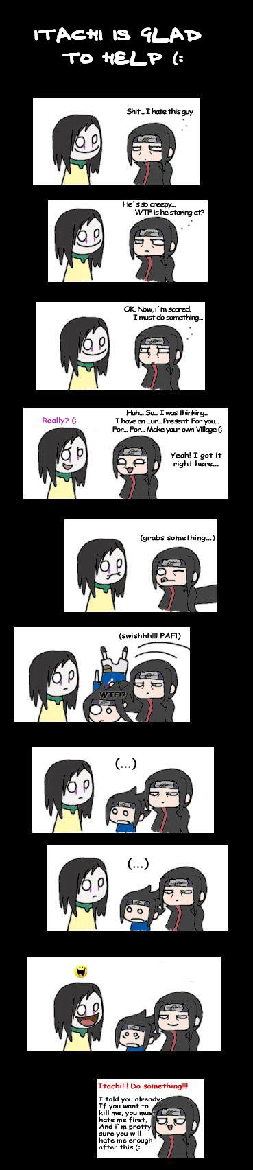 Itachi is glad to help by Smellerbee