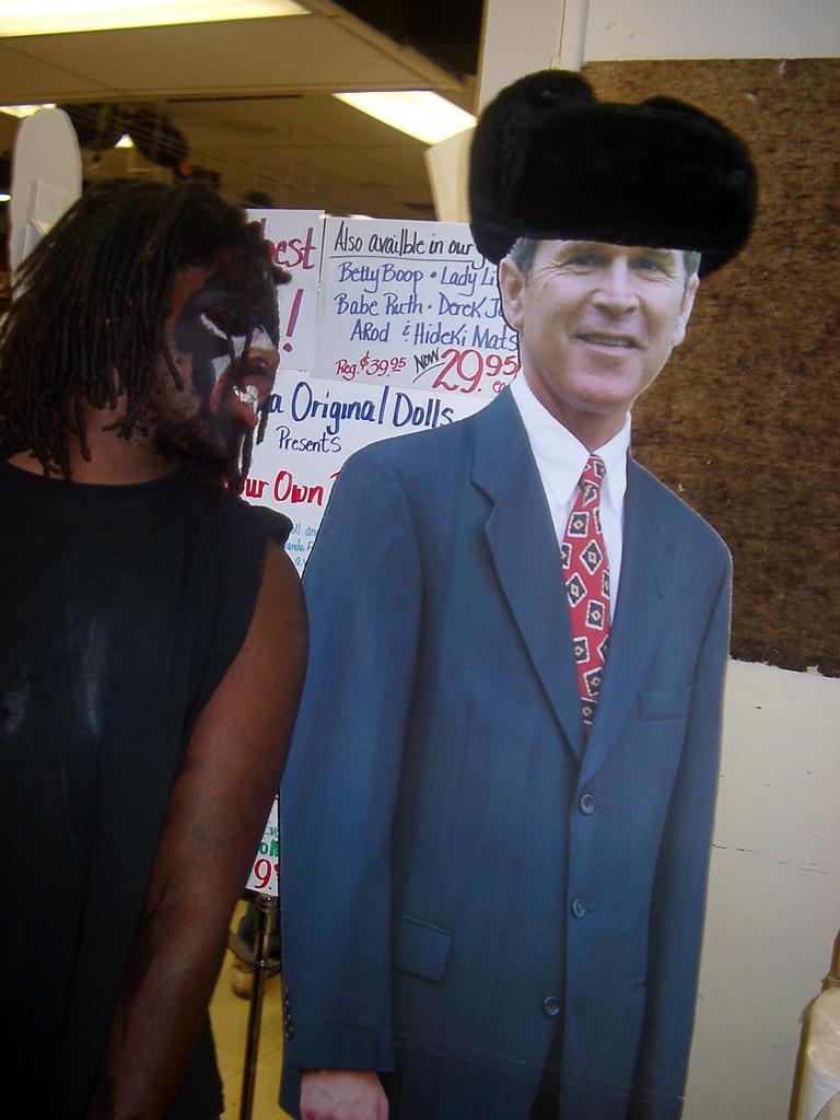 Hello President Bush by BryanTheVampire