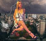 Giantess Agostina Scalise attack Buenos Aires