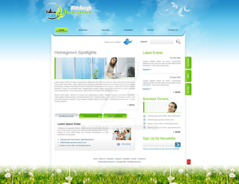 Ever Cool Website Template By Areeb89 On Deviantart
