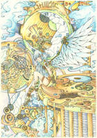 Steampunk Angel traditional by menolly-48
