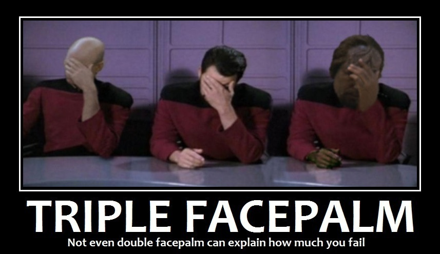 Image result for triple facepalm