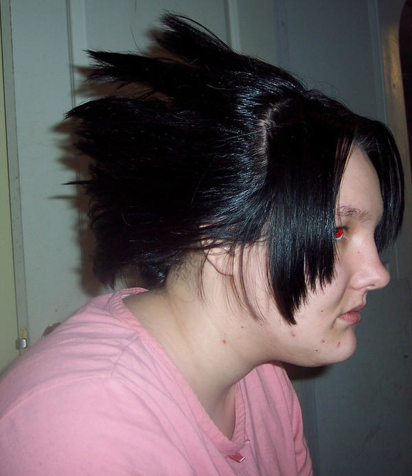 how to do an invisible part weave : My sisters Sasuke hair by fluffypants on DeviantArt
