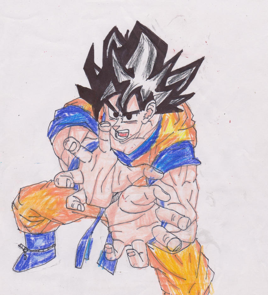 the finished awesome goku by theresxcfg