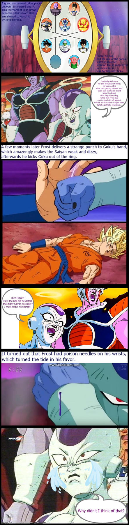 DBZ FUNNYVERSE: Frost Better Than Frieza? by SSJGOKU10