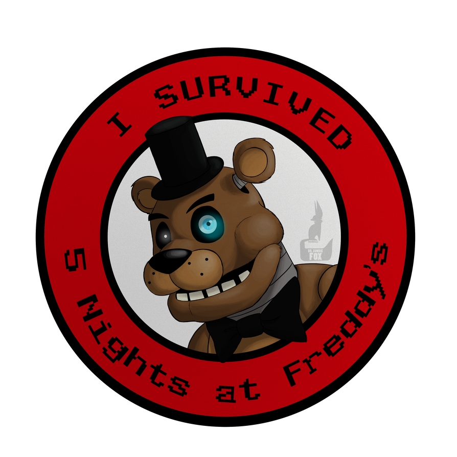 I Survived Five Nights at Freddy's [ON REDBUBBLE] by DrZombieFox