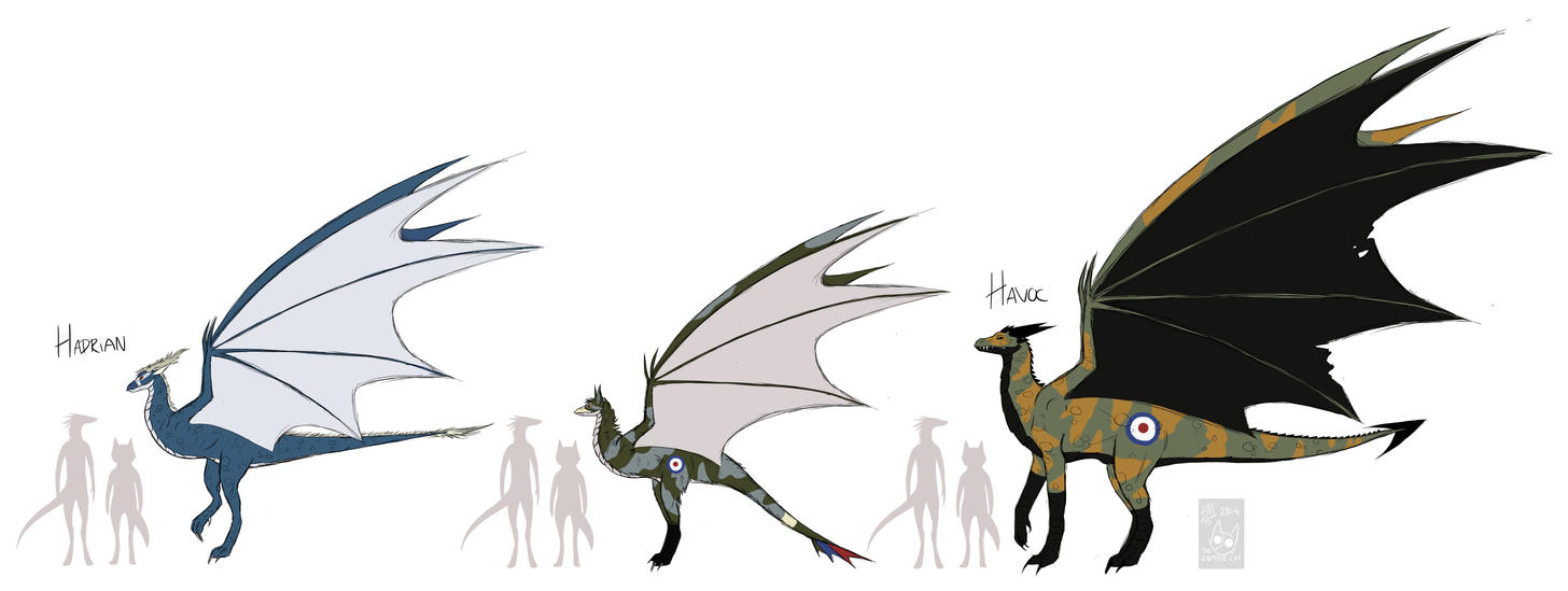 Dragons by THE-Z0MBIE-CAT