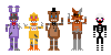 FNAF2 mini pixels2 by DrZombieFox