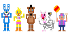 FNAF2 mini pixels by DrZombieFox