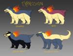 Typhlosion variants