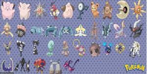 Cosmic Type Pokemon