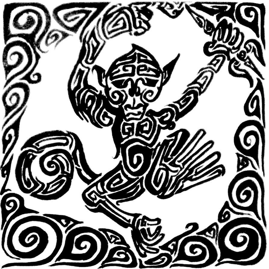 Tribal-Tattoos tribal_tattoo__hanuman_by_mangosapien-d308i2l